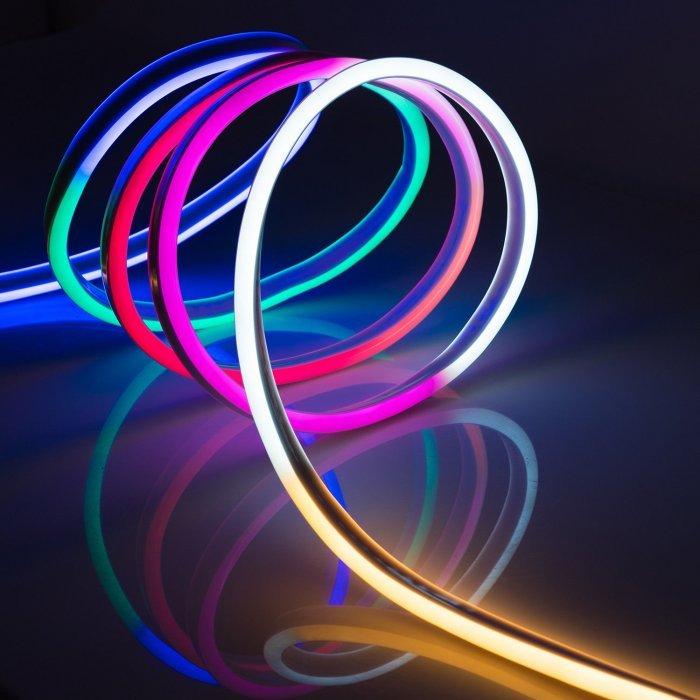 Гибкий Неон 12V 9 Вт/метр RGB разноцветный 8х18 Мм General GLS-5050-72-9-12-NL-IP67-RGB блистер 5м