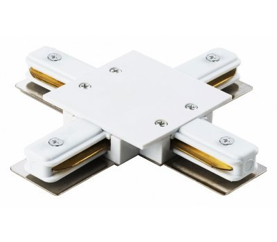 Коннектор G-1-TXT-I-IP20-W для шинопровода встраиваемого X-образный белый