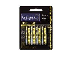 Батарейка GBAT-LR6 AA щелочная блистер 4 шт