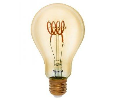Лампа GLDEN-A75SS-6-230-E27-1800 Золотая