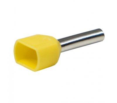 Наконечник-гильза GNGI-E2-2x1-10 желтый
