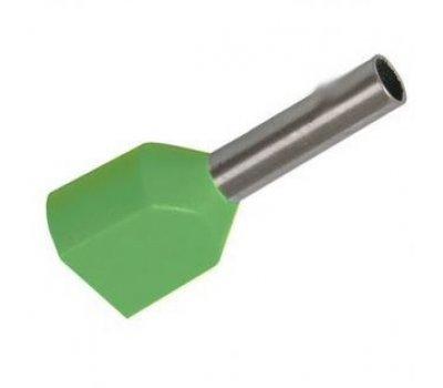 Наконечник-гильза GNGI-E2-2x1-8 светло-зеленый