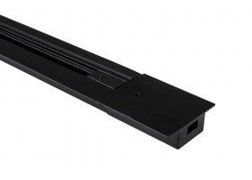 Шинопровод G-1-1-TR-I-IP20-B встраиваемый 1 метр черный
