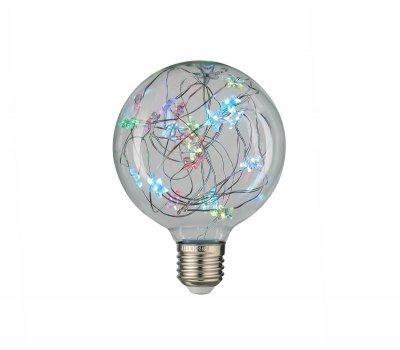 Лампа GLDEN-G95SW-STAR-1-230-E27-RGB