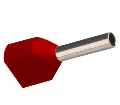 Наконечник-гильза GNGI-E2-2x0,75-8 темно-красный