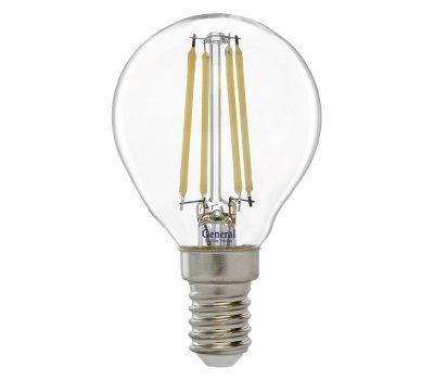 Лампа GLDEN-G45S-12-230-E14-6500